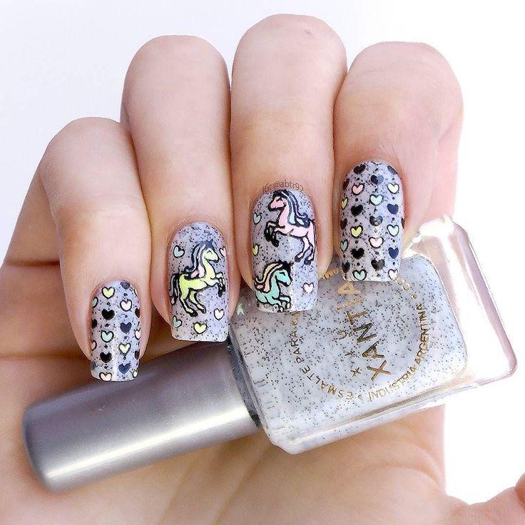Pastel unicorns!  Unicornios pasteles! Estrenando esmalte de @esmaltesxantia y placa de @wibblywobblynailsstuff. Amo demasiado este estilo de esmaltes quiero de todos los colores del arcoiris! Y combinados tambien!  # #nails #nails #nailart #lookmoyoulondon #esmaltesxantia #wibblywobblynailsstuff #instanails #nailstagram #nailsofinstagram #nailsofig #notd #nailoftheday #unicornails # #nailartaddict #nailitdaily #instacute #stamping #reversestamping #nails2inspire  #nailspiration