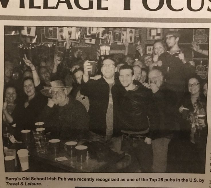 """This picture of the Pub in the newspaper could easily be inserted into the opening credits of """"Cheers"""" ☘️"""