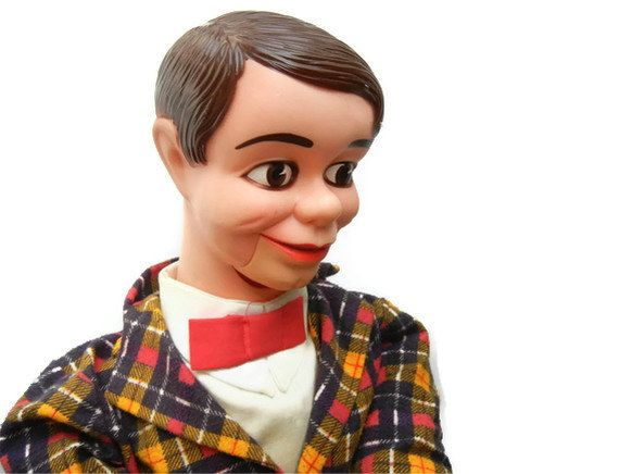 Vintage 1960's Danny O'Day Ventriloquist Dummy Doll Jimmy Nelson Puppet Toy. $35.00, via Etsy.