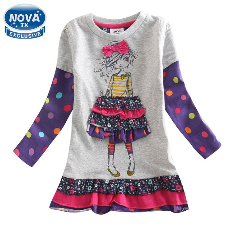 girls dress girls clothes novatx children clothing pattern casual princess dress spring autumn christmas dresses for girls H3660 #>=#>=#>=#>=#> Click on the pin to check out discount price, color, size, shipping, etc. Save and like it!