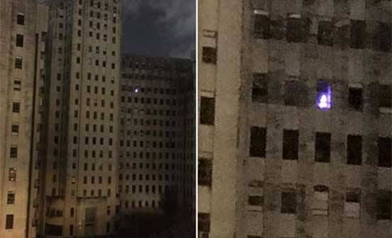 Creepy Xmas Tree Lights Up An Abandoned Hospital In New Orleans - Mystery Solved!