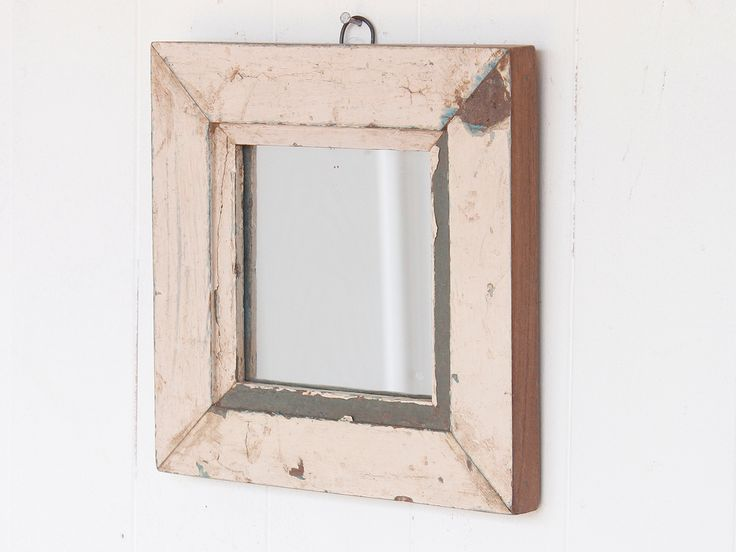 White Shabby Chic Mirror from Scaramanga vintage furniture collection