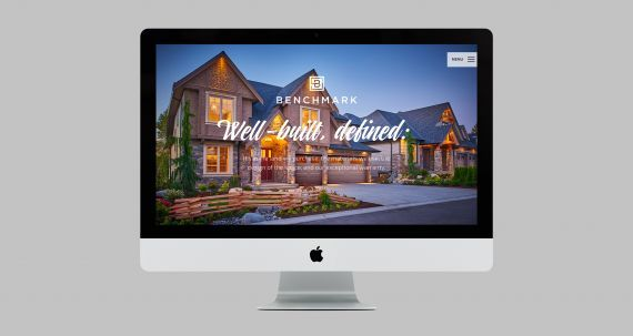 Benchmark Homes responsive website design. #developer #homebuilder #newhomeconstruction #showhomes #residential #commercial #realestate #LowerMainland #company Branding and web design by #Studiothink / Vancouver, BC #SurreyBC #branding #design #stationery #brochure #website #webdesign #creative #agency