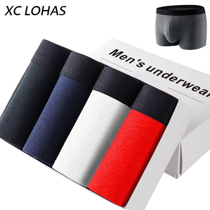 Sexy U Convex Mens Boxer Luxury Breathable Cotton Underwear Panties Elasticity Belt Shorts Cuecas Boxers De Marca L/XL/XXL/XXXL