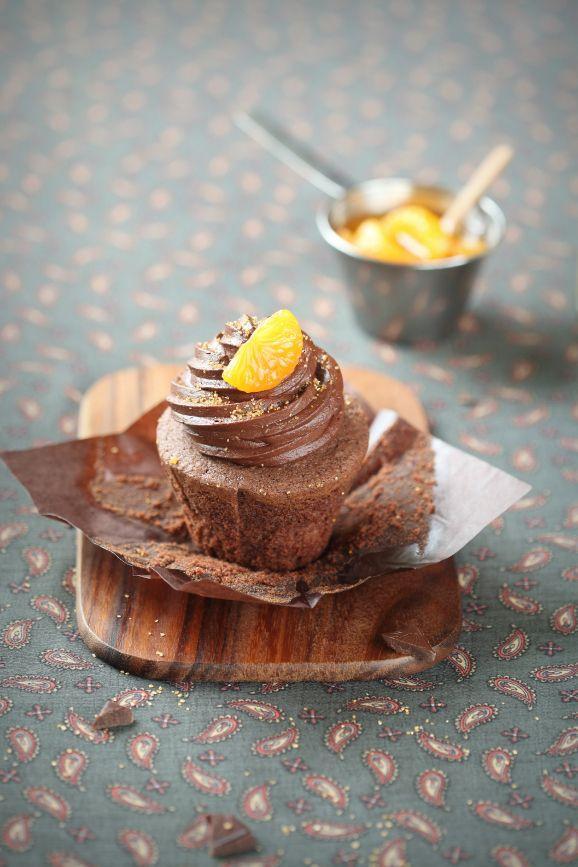 Verdade de sabor: Шоколадно-мандариновые капкейки / Cupcakes de chocolate e tangerina