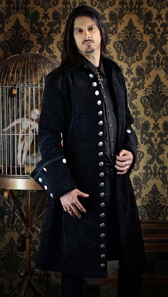 galleon pirate coat black velvet clothes pinterest