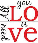 Wall Pops All You Need is Love Wall Quote Decals, 26.5...