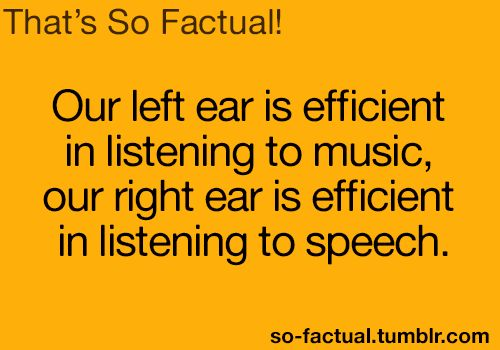 That's convenient (if indeed factual). I listen to music at work with only a headphone in my left ear so I can hear people with my right...
