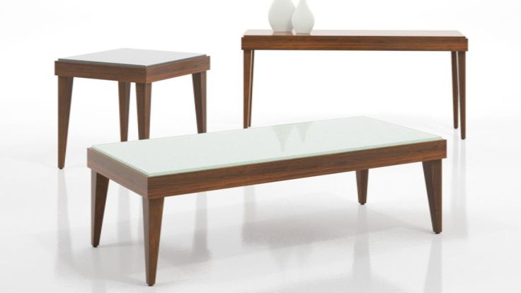 Paoli Quoin Tables with White Glass Top