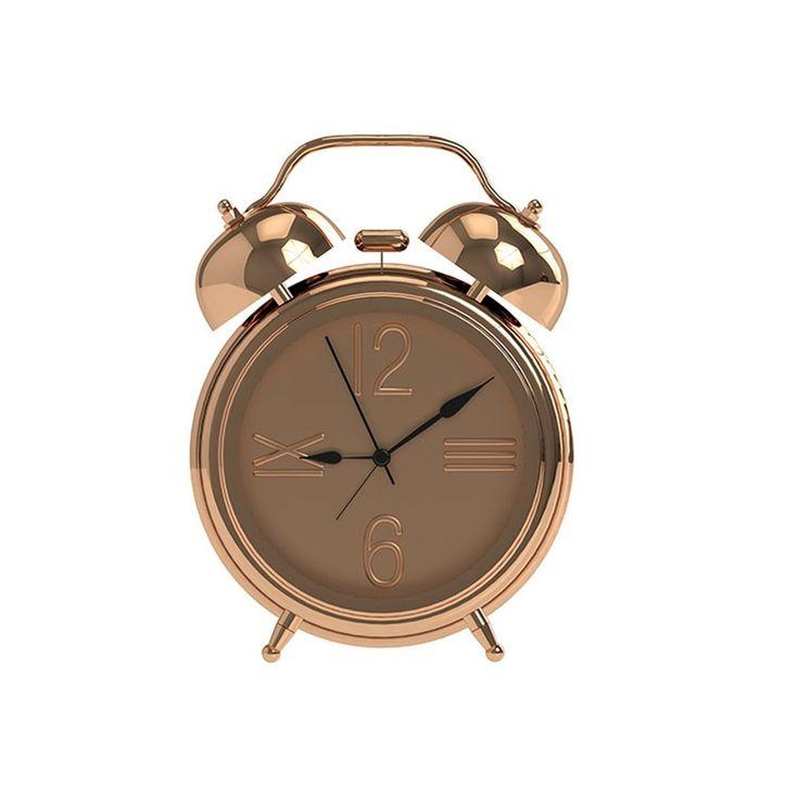 Salt & Pepper ZONE Alarm Clock Small - Rose Gold