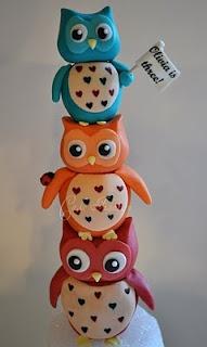 owl cake: Ideas, Owl Cakes Toppers, Parties, Hoot Hoot, Owl Toppers, Cakes Decor, Cute Owl, Hoothoot, Owl Birthday Cakes