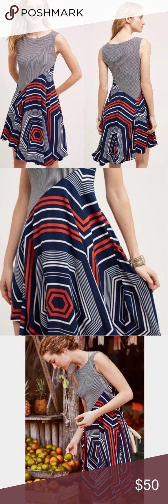 44318ab035f Anthropologie Maeve Cameron Colorblock Sun Dress M