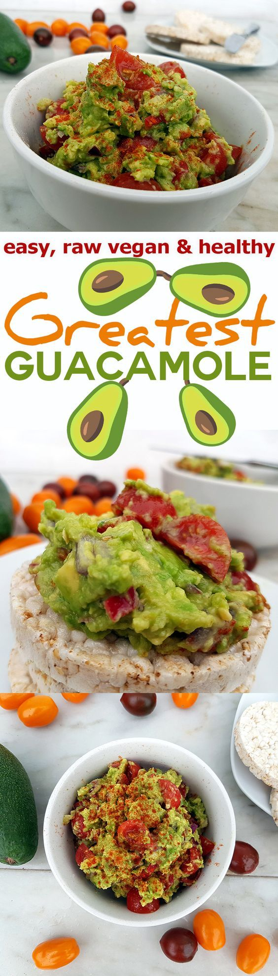 This Guacamole recipe is easy, dairy free and full of nutrients. No added oil, with lime juice and cherry tomatoes. via @nestandglow