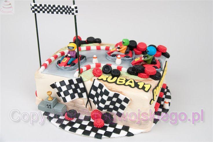 tort dla chłopca, gokarty, gocarts, tort dla chłopaka, tort na urodziny,  http://rogwojskiego.pl