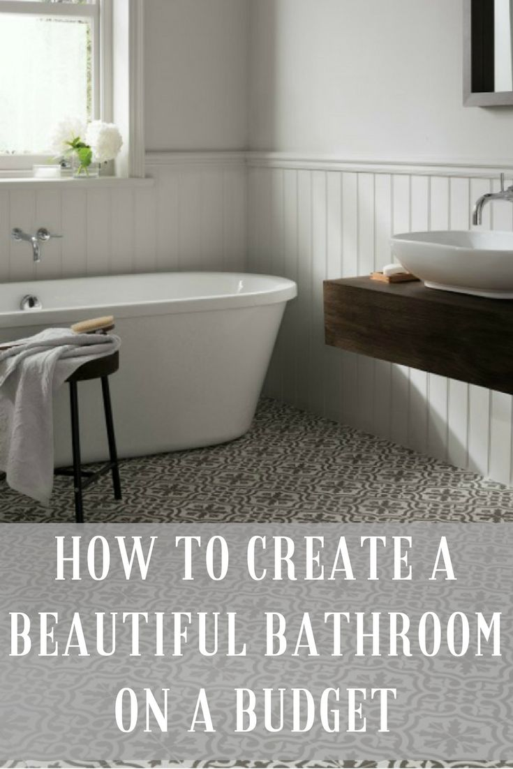 Top tips, ideas and inspiration on how to create a beautiful bathroom on a budget. There are ways to design your bathroom without spending a fortune you just need to know some of these tricks. Click through to find out more.