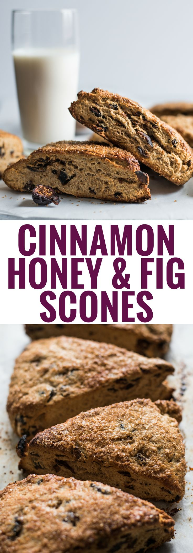 These easy to make Cinnamon Honey & Fig Scones are sweetened with honey, cinnamon and filled with black mission figs. Great for breakfast, brunch or dessert!