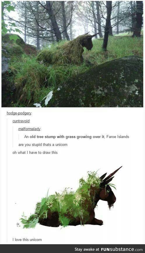 Es ist ein Einhorn