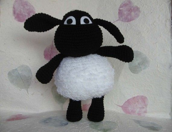 Timmy the sheep from Shaun the Sheep, 12.5 inches - PDF crochet pattern [Have no idea who Timmy and Shaun are, but this is so cute.]