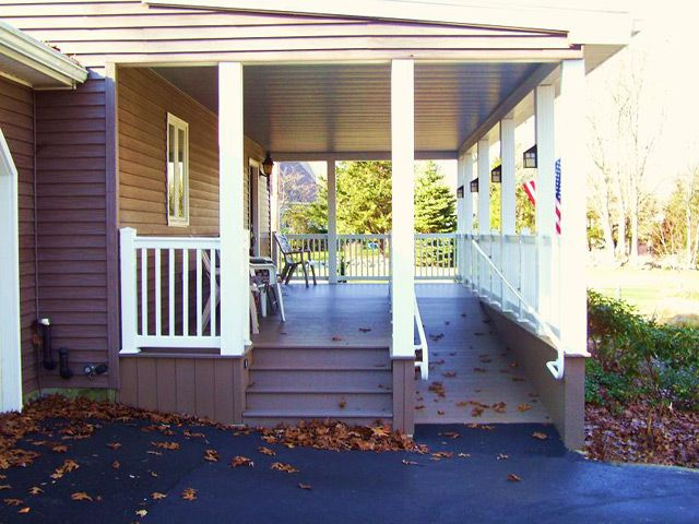 a side image showing stairs and ramp detail from driveway side I would  prefer ramp next. 17 Best images about build a ramp on Pinterest   Ramps for