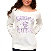 Minnesota Vikings Ladies Classic Off-The-Shoulder Sweatshirt I pretty much need this!