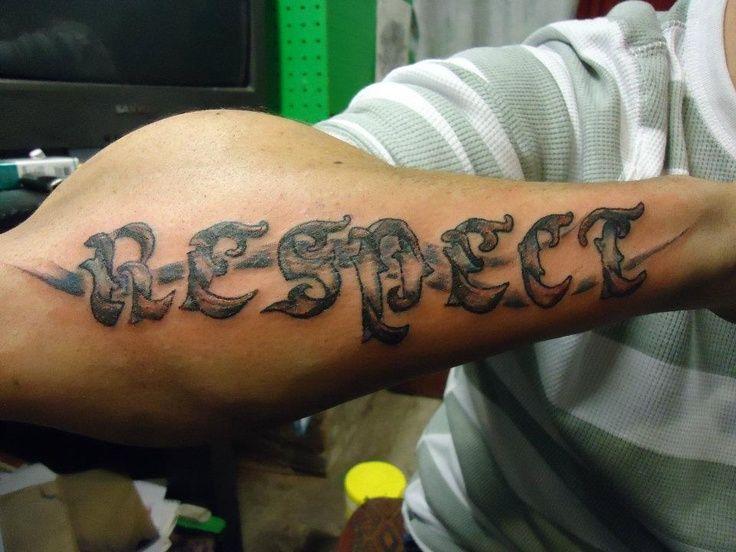 Guy Tattoo Designs: Respect Tattoos For Men
