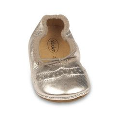 Bring a touch of the rodeo to your Baabee with these ballet flats. Made of 100% leather. Cowboy (Silver) Ballet Flat