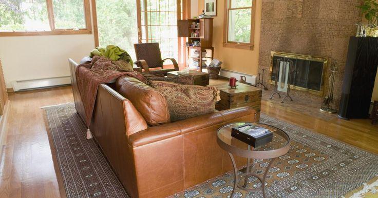Ideas para decorar una sala con sillones marrón oscuro