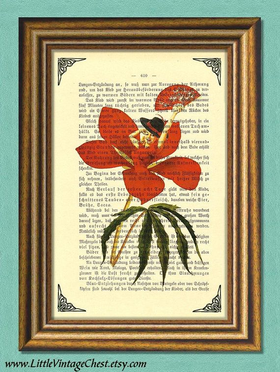 HIBISCUS WOMAN  Dictionary Art Print  Wall by littlevintagechest, $7.99