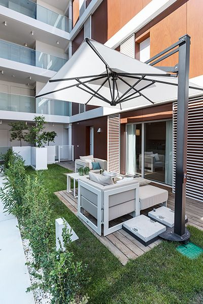 Luxurious Monaco apartment makes for a great summer retreat for holidays on the French Riviera - Gorgeous outdoor lounge area designed by NG-Studio