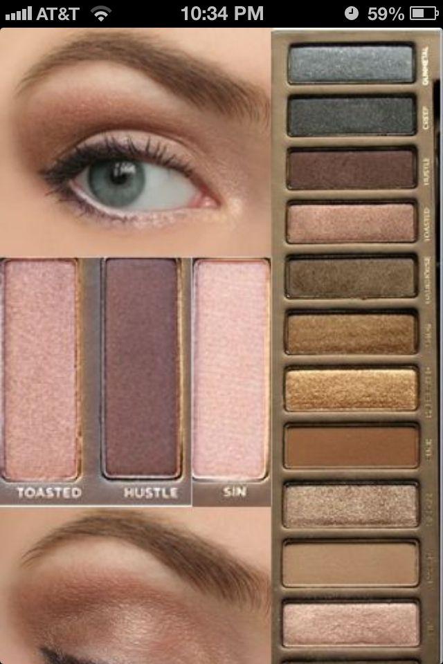 Makeup,  urban decay, naked, eye makeup