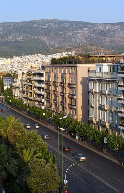 Vasilissis Sofias Avenue in Athens, Greece