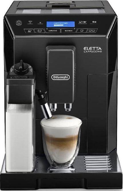DeLonghi Eletta Cappuccino ECAM 44.660.B  DeLonghi Eletta Cappuccino ECAM44.660.B: Voor de heerlijke melkbereidingen dankzij het LatteCrema Systeem Met het gepatenteerde LatteCrema Systeem maakt de DeLonghi ECAM44660B dé perfecte melkbereidingen met slechts één druk op de knop. Daarnaast personaliseer je je favoriete melkbereiding eenvoudig met de 'My Milk' knop. Hij is voorzien van een extra stoompijpjewaar je ook nog melk kan opschuimen en heet water kan aftappen. Daarnaast is de DeLonghi…