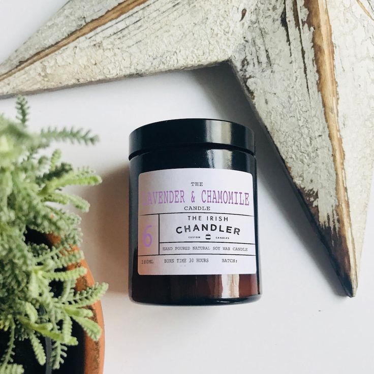 Lavender & Chamomile Scented Soy Wax Candle by TheIrishChandler on Etsy