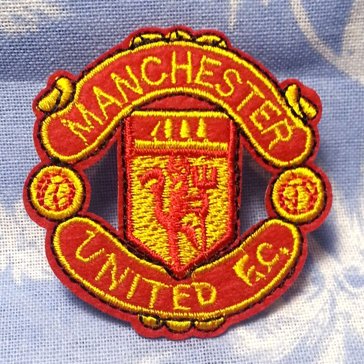 "Manchester United FC Team Fabric Embroidery Iron on Patch Patches DIY Clothes Making (2 1/4"" X 2 3/8"") by YanKenShop on Etsy"