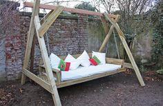 Wer Platz im Garten hat: wie wäre es mit einem XXL Familienschaukelbett?! :D Tolle DIY Idee! - OBI Selbstgemacht! Blog. Selbstbauanleitung für jedermann.