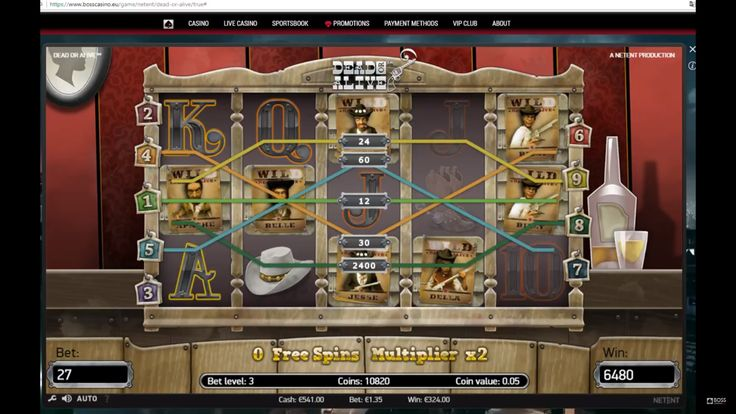 Dead or Alive by Netent. One of the biggest online slot wins  We really love Dead or Alive online slot. In this game you have a chance to get the biggest win! Here you will find lots of Wild symbols and very generous Free Spins mode! Play and get online casino big win