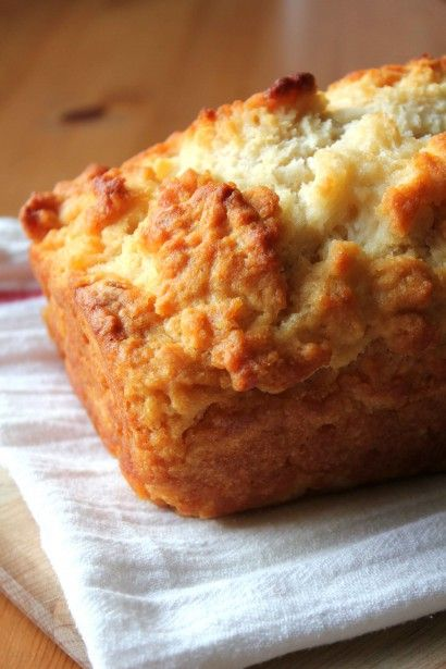 Honey Beer Bread.....easy!!  3 cups All-purpose Flour  2 Tablespoons Sugar  1 Tablespoon Baking Powder  1 teaspoon Salt  2 Tablespoons Honey  1 can Beer, 12 Ounce Can  ¼ cups Unsalted Butter, melted
