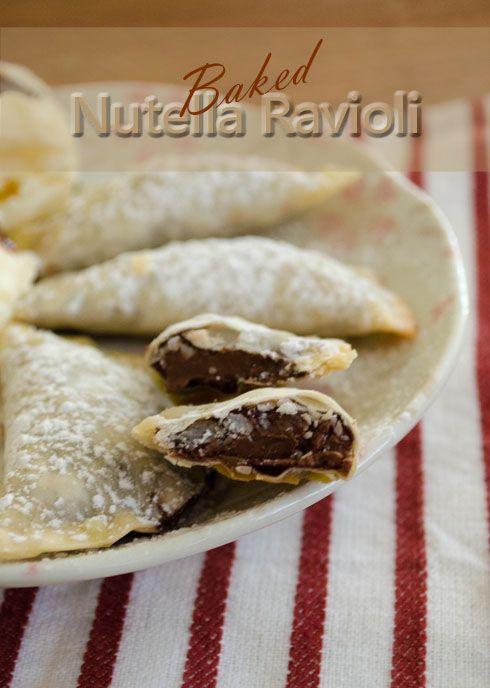 Baked Nutella RavioliBaking With Nutella, Baking Treats ...