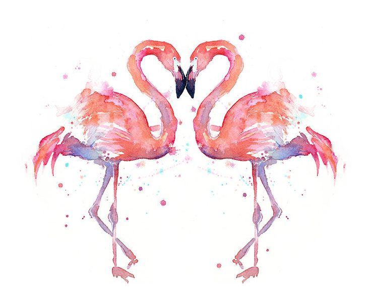 flamingo png acuarela - Buscar con Google