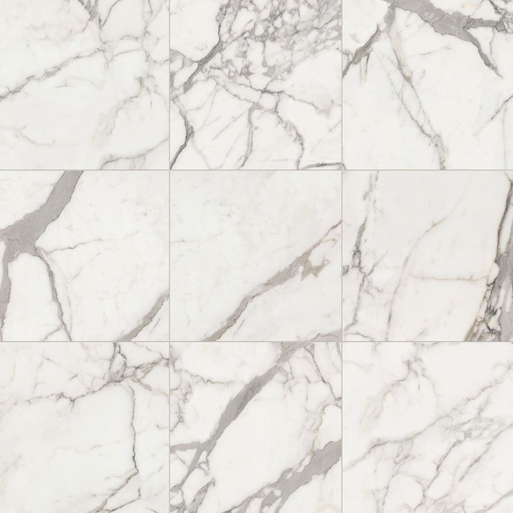 Elegance White Gloss Marble Effect Ceramic Floor Tile: Gres Porcellanato Effetto Marmo Elements Lux