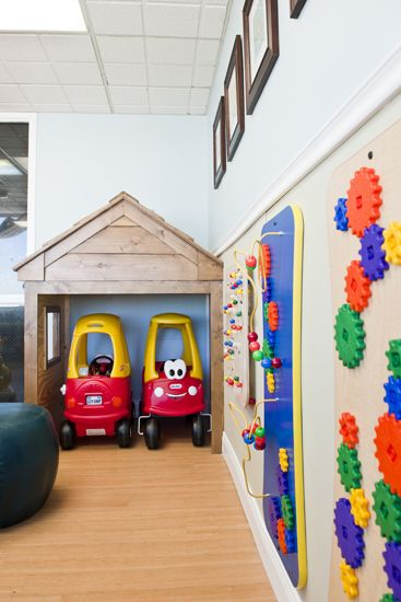 garage playroom | The Chippenham Playroom - Cathy Green InteriorsCathy Green Interiors I love the faux garage