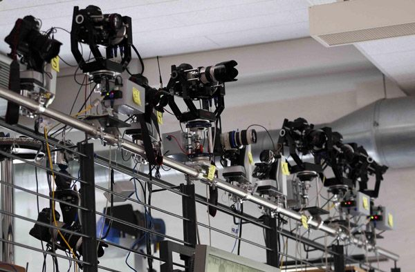 Fully controlled pan and tilt robotic cameras are lined up for testing (for Olympics) - Reuters offices