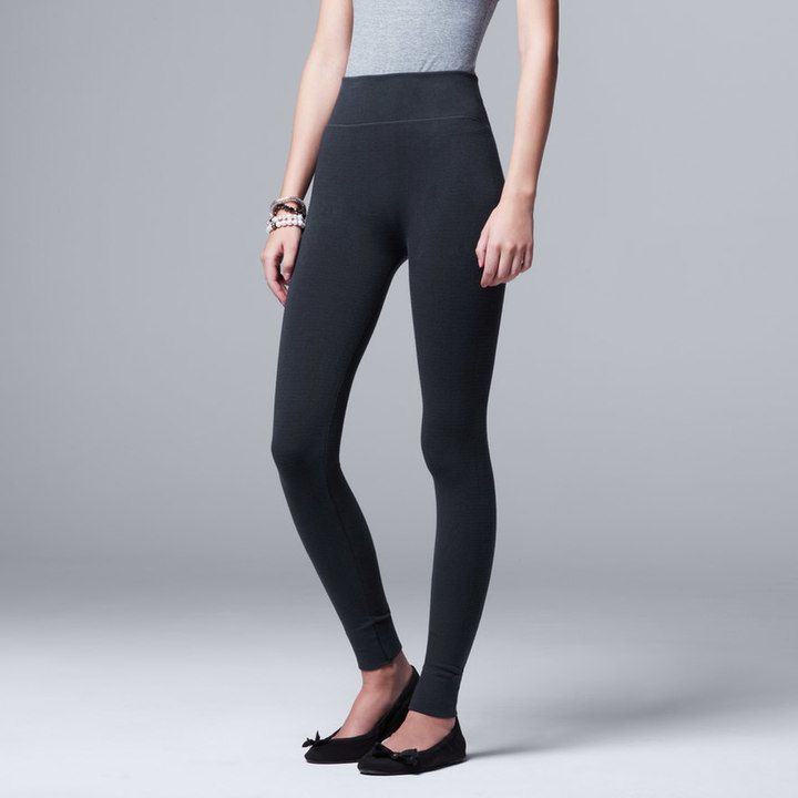 Simply Vera Vera Wang Women's Simply Vera Vera Wang Seamless Twill Leggings