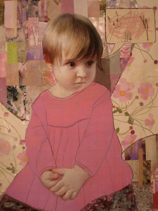 Ann Marshall pastel & paper collage