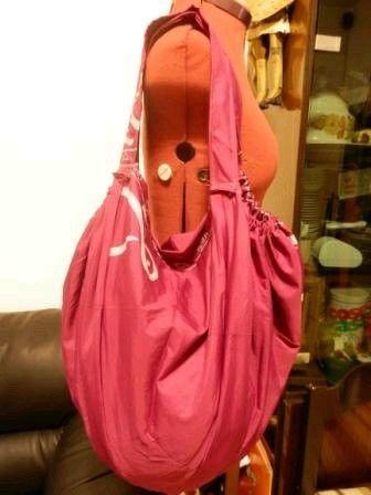 cloth shopping bags from broken umbrellas