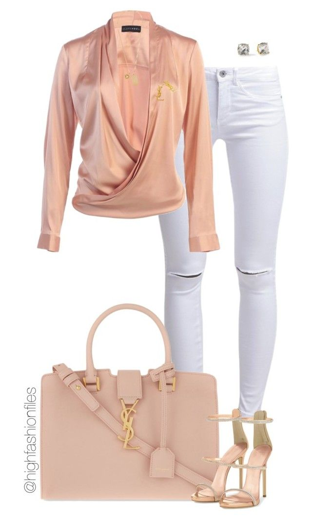 """""""Untitled #2724"""" by highfashionfiles on Polyvore featuring ONLY, Yves Saint Laurent, Versace and Kate Spade"""