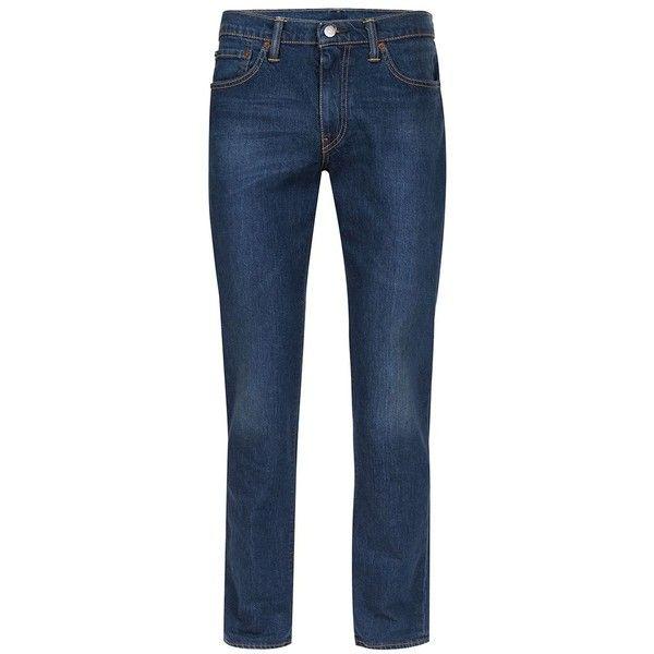 TOPMAN LEVI'S 511 Slim Jeans ($110) ❤ liked on Polyvore featuring men's fashion, men's clothing, men's jeans, blue, mens slim fit jeans, mens patched jeans, mens slim jeans, topman mens jeans and mens zipper jeans