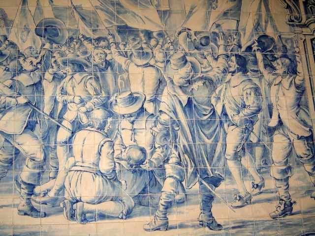 Painel de azulejos restauração de Portugal 1640