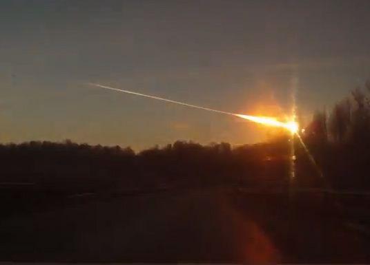 BREAKING: Huge Meteor Explodes Over Russia.
