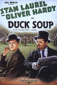 Duck Soup is a silent comedy short film starring Stan Laurel and Oliver Hardy prior to their official billing as the duo Laurel and Hardy. The team appeared in a total of 107 films between 1921 and 1951.